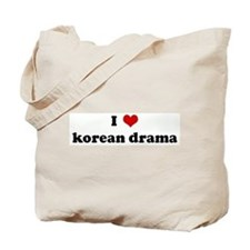 I Love korean drama Tote Bag