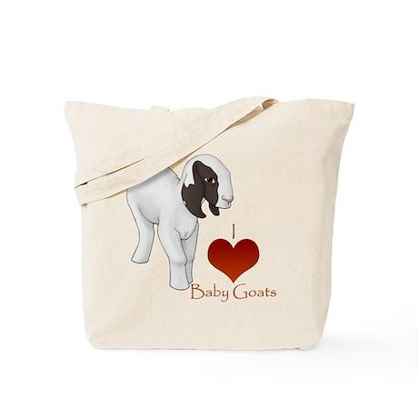 I Love Baby Goats Tote Bag