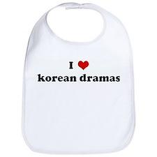 I Love korean dramas Bib