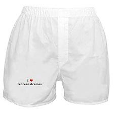 I Love korean dramas Boxer Shorts