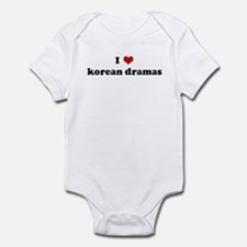 I Love korean dramas Infant Bodysuit