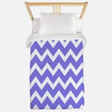 White and purple Chevrons Twin Duvet