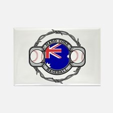 Australian Hand Core Baseball Rectangle Magnet