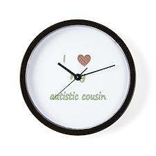 I love my autistic cousin (2) Wall Clock
