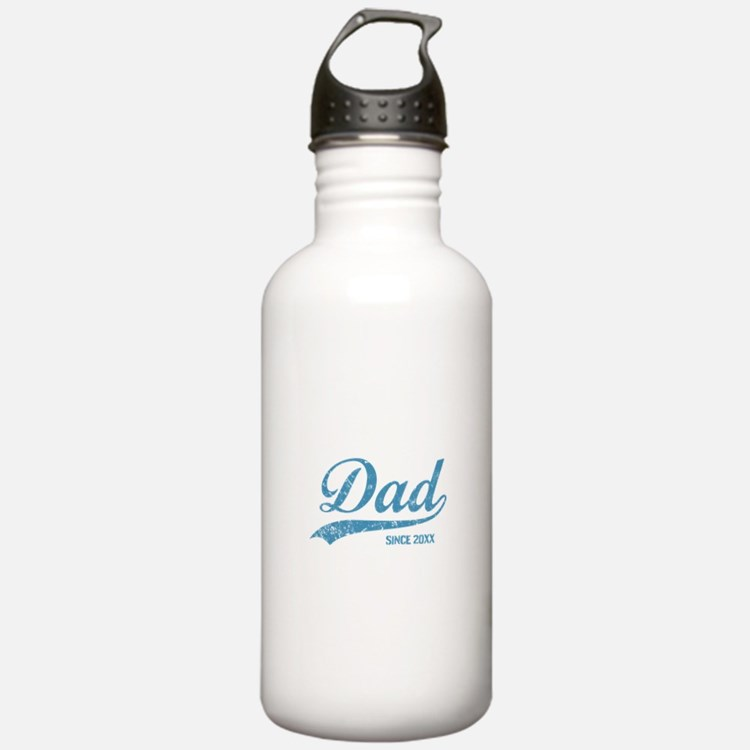 Personalize Dad Since Water Bottle