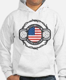 USA Hard Core Volleyball Hoodie
