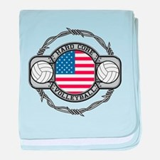 USA Hard Core Volleyball baby blanket