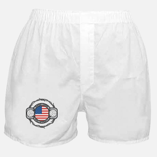 USA Hard Core Volleyball Boxer Shorts