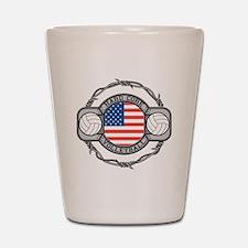 USA Hard Core Volleyball Shot Glass