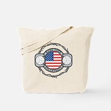 USA Hard Core Volleyball Tote Bag