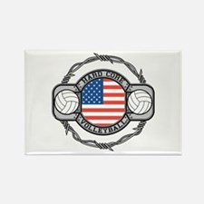 USA Hard Core Volleyball Rectangle Magnet