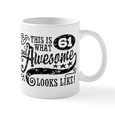 61st Birthday Small Mugs