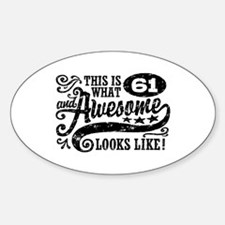 61st Birthday Decal