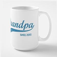 Personalize Grandpa Since Large Mug