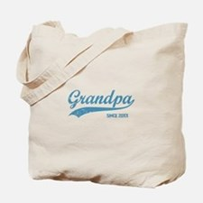 Personalize Grandpa Since Tote Bag