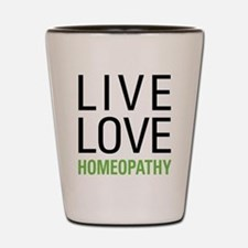 Live Love Homeopathy Shot Glass