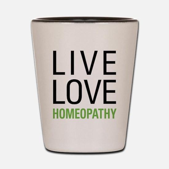 Live Love Homeopathy Shot Glass