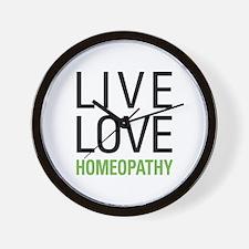 Live Love Homeopathy Wall Clock