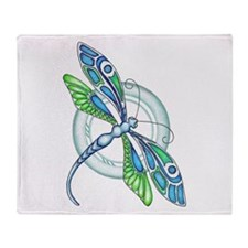 Decorative Dragonfly Throw Blanket