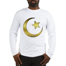 Gold Star and Crescent Long Sleeve T-Shirt