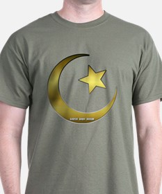 Gold Star and Crescent T-Shirt