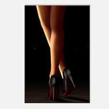 Legs on high heels Postcards (Package of 8)