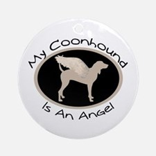 Coonhound is an Angel Ornament (Round)