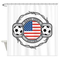 Usa Hard Core Soccer Shower Curtain