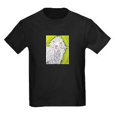 Angora Goat Farm Animal Art T-Shirt