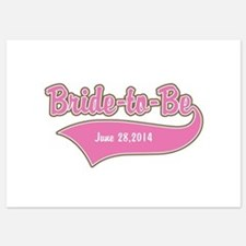 Bride-to-Be Custom Date 5x7 Flat Cards