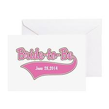 Bride-to-Be Custom Date Greeting Card
