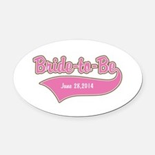 Bride-to-Be Custom Date Oval Car Magnet