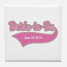 Bride-to-Be Custom Date Tile Coaster
