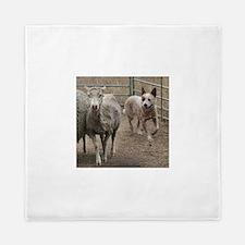 australian cattle dog herding Queen Duvet