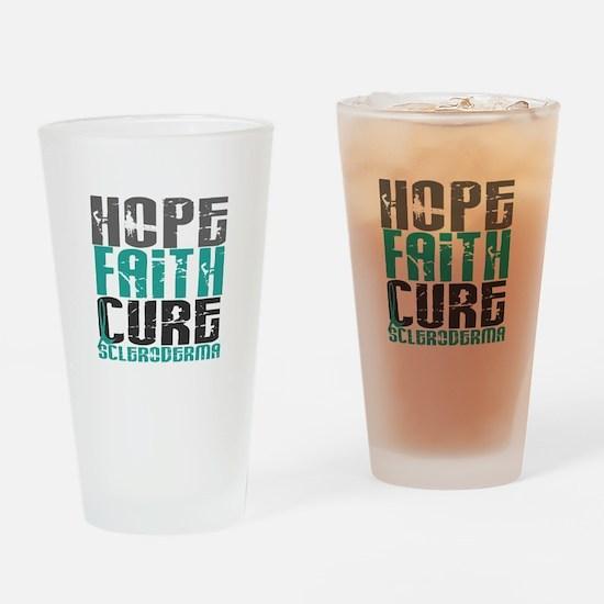 Scleroderma HopeFaithCure1 Drinking Glass