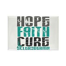 Scleroderma HopeFaithCure1 Rectangle Magnet
