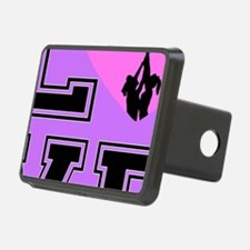 Love Cheerleading purple Hitch Cover
