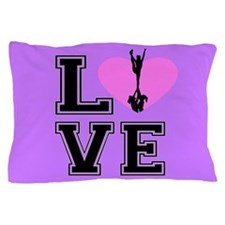 Love Cheerleading purple Pillow Case