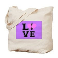 Love Cheerleading purple Tote Bag