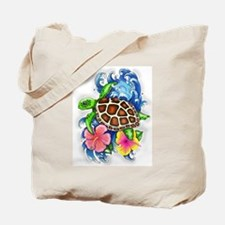 Tropical Sea Turtle Tote Bag