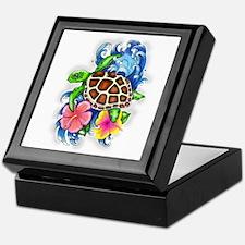Tropical Sea Turtle Keepsake Box