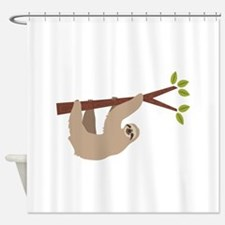 Sloth shower curtains sloth fabric shower curtain liner for Sloth kong shower curtain