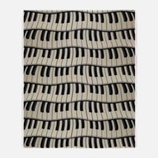 Rock And Roll Piano Keys Throw Blanket