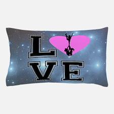 Love Cheerleading blue Pillow Case