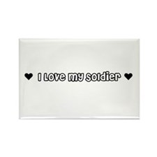 Cute I love my army fiance Rectangle Magnet