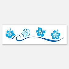 Flower Beach Bumper Bumper Bumper Sticker