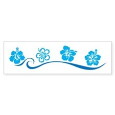 Flower Beach Bumper Bumper Sticker