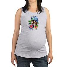 Tropical Sea Turtle Maternity Tank Top