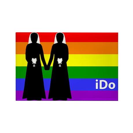 """I Do"" Brides Rainbow Magnet"