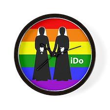 """""""I Do"""" Brides Rainbow Wall Clock"""